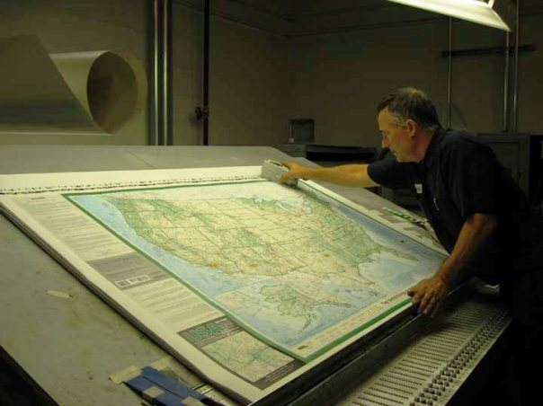 Dave Imus, The Essential Geography of the United States of America printed at Williams & Heintz