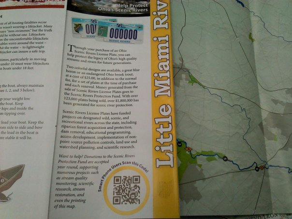 QR Code on the Ohio Scenic Rivers Map