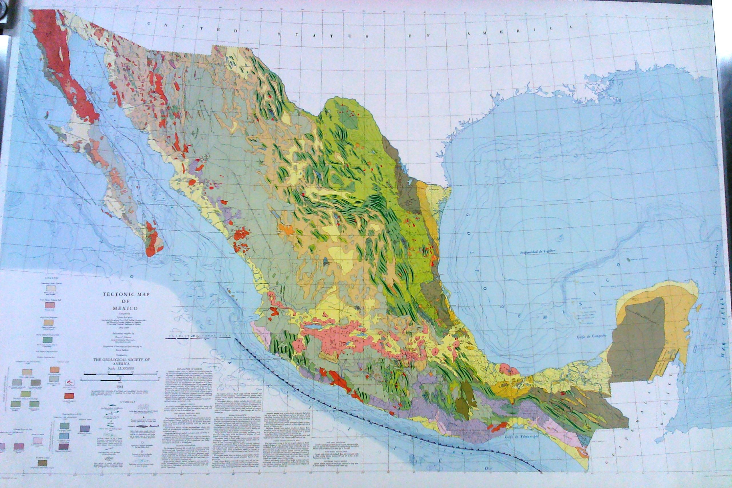Tectonic Map Of Mexico The Geological Society Of America - The map of mexico