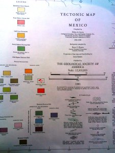 Tectonic map of Mexico Ledgend