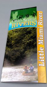 Map of Little Miami River in Ohio printed by Williams & Heintz Map Corp. for the Ohio DNR, won the Best of Category Award of Excellence for Folders and Brochures, Process