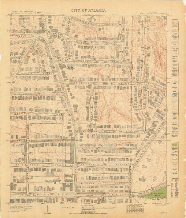 MARBL Historic Map Collection: City of Atlanta: Sheet 7 Printed by Williams & Heintz Co. in 1930.