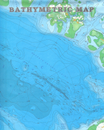 BATHYMETRIC CHART From: BATHYMETRY OF THE ARCTIC OCEAN Publisher: THE NAVAL RESEARCH LABORATORY, GEOLOGIC SOCIETY OF AMERICA