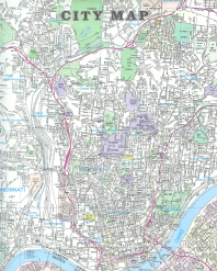 CITY MAP From: CITY MAP OF CINCINNATI Publisher: UNIVERSAL MAP ENTERPRISES/SPECTRUM MAP PUBLISHING