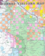 FOREST VISITORS MAP From; BITTERROOT NATIONAL FOREST Courtesy of the FOREST SERVICE, U. S. DEPARTMENT OF AGRICULTURE