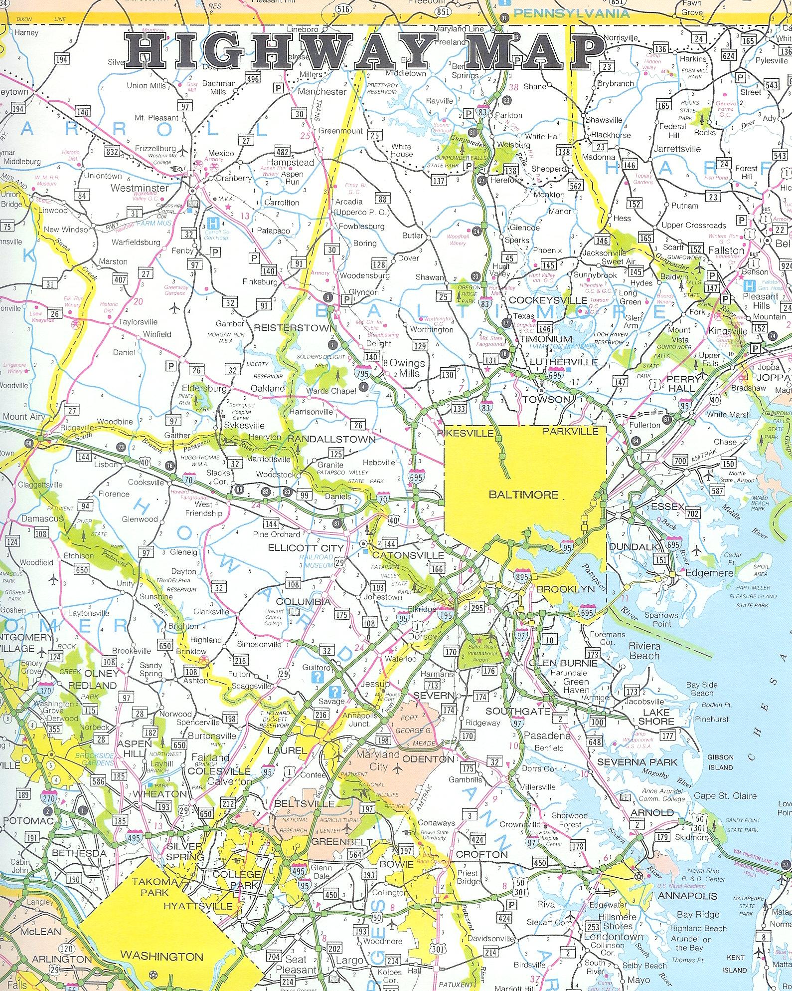 Highway Map MapPrinter