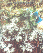 LANDSAT MAP From: LANDSAT MAP OF NEPAL Publisher: WORLD BANK AND NEPAL MINISTRY OF FOREST AND SOIL CONSERVATION