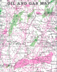 OIL AND GAS MAP From: OIL AND GAS MAP OF WEST VIRGINIA Publisher: WEST VIRGINIA GEOLOGICAL AND ECONOMIC SURVEY