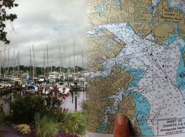 The Maryland Cruising Guide, published and printed by Williams & Heintz Map Corp., is based on NOAA Nautical Charts.