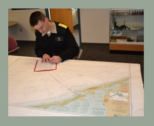 Admiral signing NOAA POD Chart Agent Agreement With Williams & Heintz Map