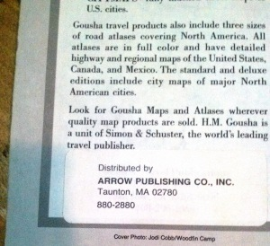 The H. M. Goucha Pennsylvania Road Map was distributed by Arrow Publishing Co., Inc.