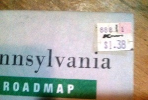 Goucha Pennsylvania Road Map only $1.38 in 1988