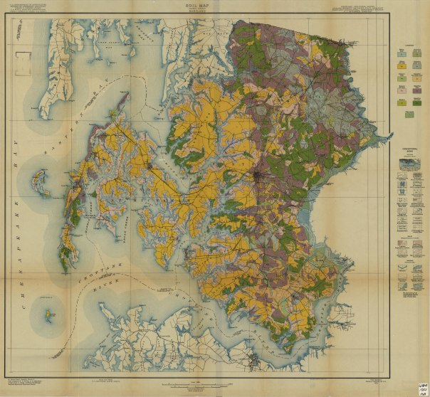 Soil map of Talbot County, MD 1929