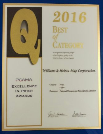 PGAMA Exellence in Print Awards Williams & Heintz Map wins for Best of Category for Maps Process