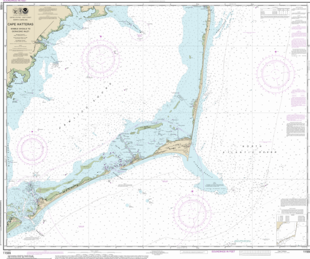 Cape Hatteras, NC NOAA POD Chart 11520